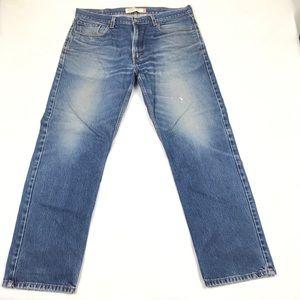 Levi's 501 Mom Jeans Hi Rise Straight Leg Distress